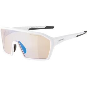 Alpina Ram HVLM+ Glasses, white matt/blue mirror